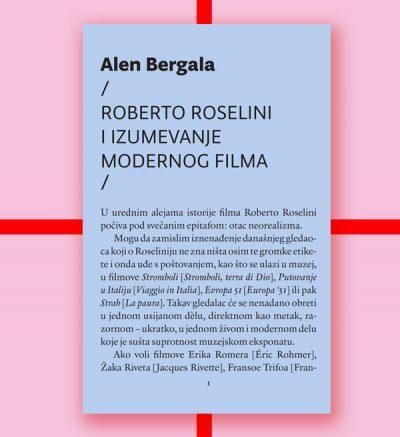 Alen Bergala Roberto Roselini i izumevanje modernog filma