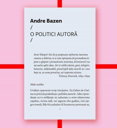 Andre Bazen O politici autora