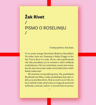 Žak Rivet Pismo o Roseliniju