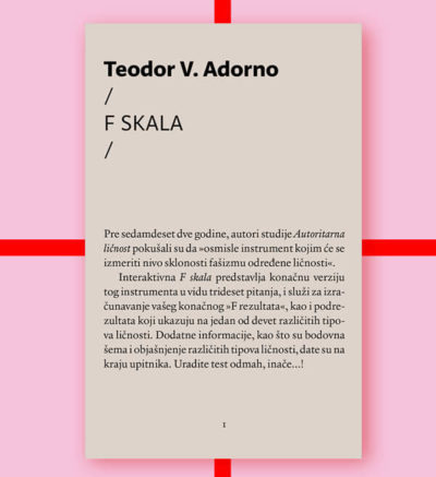 Teodor Adorno F skala FMK knjige