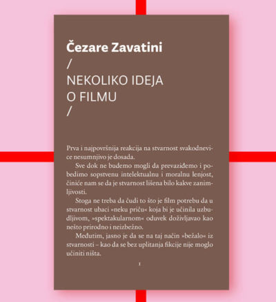 Čezare Zavatini Nekoliko ideja o filmu FMK knjige