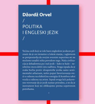 Džordž Orvel Politika i engleski jezik FMK knjige