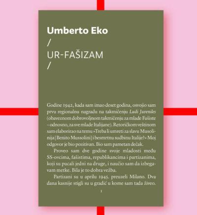 Umberto Eko Ur-fašizam FMK knjige