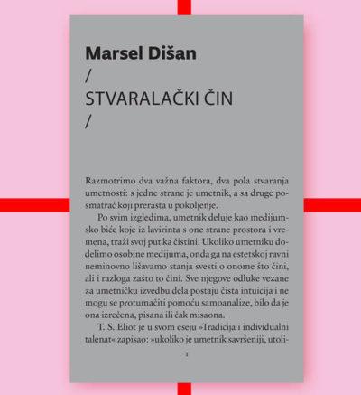 Marsel Dišan Stvaralački čin FMK knjige